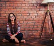 Retrato de una muchacha adolescente linda hermosa Imagen de archivo