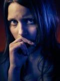 Retrato de una muchacha adolescente psica Imagenes de archivo