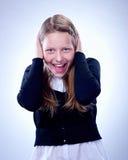 Retrato de una muchacha adolescente sorprendida Imagen de archivo