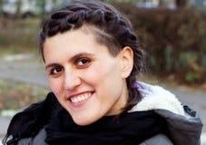 Retrato de una muchacha alegre Imagen de archivo