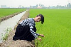 Retrato de una muchacha asiática bastante joven Imagenes de archivo