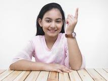 Retrato de una muchacha bastante asiática Imágenes de archivo libres de regalías