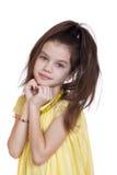 Retrato de una muchacha bonita del liitle Fotos de archivo libres de regalías