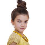 Retrato de una muchacha bonita del liitle Imagen de archivo libre de regalías
