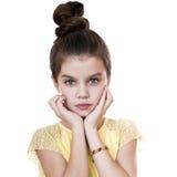 Retrato de una muchacha bonita del liitle Fotos de archivo