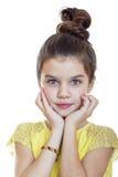 Retrato de una muchacha bonita del liitle Fotografía de archivo