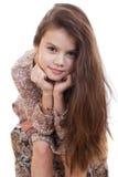 Retrato de una muchacha bonita del liitle Imagenes de archivo