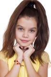 Retrato de una muchacha bonita del liitle Imágenes de archivo libres de regalías