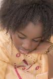 Retrato de una muchacha cambiante, trece años Imágenes de archivo libres de regalías