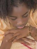 Retrato de una muchacha cambiante, trece años Foto de archivo libre de regalías
