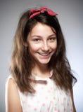 Retrato de una muchacha con el pelo marrón Imágenes de archivo libres de regalías
