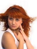 Retrato de una muchacha con su pelo Imágenes de archivo libres de regalías