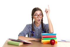 Retrato de una muchacha de aprendizaje Fotos de archivo libres de regalías