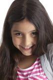Retrato de una muchacha de ocho años Foto de archivo libre de regalías