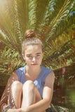 Retrato de una muchacha del adolescente Imagenes de archivo