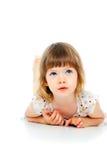 Retrato de una muchacha del niño hermoso imágenes de archivo libres de regalías
