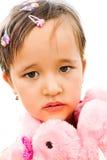 Retrato de una muchacha en color de rosa Imagen de archivo libre de regalías