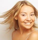 Retrato de una muchacha en enlace Imagenes de archivo