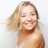 Retrato de una muchacha en enlace Fotos de archivo libres de regalías
