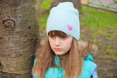 Retrato de una muchacha enojada Imagen de archivo libre de regalías