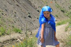 Retrato de una muchacha feliz Fotografía de archivo