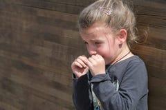 Retrato de una muchacha gritadora Foto de archivo libre de regalías