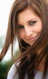 Retrato de una muchacha hermosa Imágenes de archivo libres de regalías