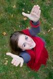 Retrato de una muchacha hermosa joven Imagen de archivo
