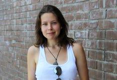 Retrato de una muchacha hermosa linda Imagen de archivo