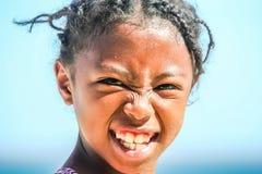 Retrato de una muchacha malgache Fotografía de archivo libre de regalías