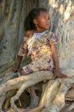 Retrato de una muchacha malgache Fotos de archivo