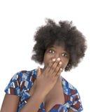 Retrato de una muchacha preciosa del adolescente, expresión sorprendida, aislada Fotos de archivo