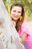 Retrato de una muchacha rubia hermosa Fotos de archivo
