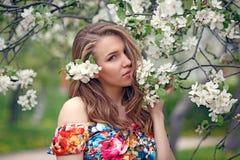 Retrato de una muchacha rubia hermosa en colores Fotografía de archivo libre de regalías