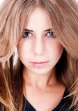 Retrato de una muchacha sensual Foto de archivo libre de regalías