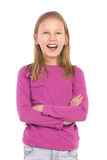 Retrato de una muchacha sonriente foto de archivo libre de regalías