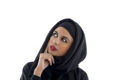 Retrato de una mujer árabe hermosa que lleva Hijab, fotografía de archivo libre de regalías