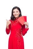 Retrato de una mujer asiática hermosa en coste tradicional del festival Fotografía de archivo libre de regalías
