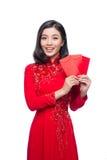 Retrato de una mujer asiática hermosa en coste tradicional del festival Fotos de archivo libres de regalías