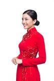 Retrato de una mujer asiática hermosa en coste tradicional del festival Imagen de archivo