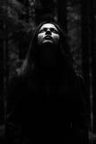Retrato de una mujer asustadiza Fotografía de archivo