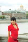 Retrato de una mujer atractiva joven hermosa fotografía de archivo libre de regalías