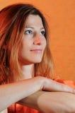 Retrato de una mujer bonita Foto de archivo libre de regalías