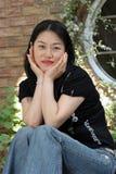 Retrato de una mujer coreana imágenes de archivo libres de regalías