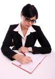 Retrato de una mujer de negocios acertada fotografía de archivo