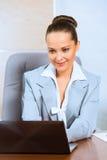 Retrato de una mujer de negocios acertada Fotografía de archivo libre de regalías