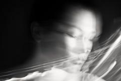 Retrato de una mujer de sueño Imágenes de archivo libres de regalías