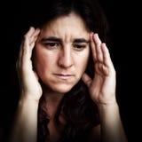 Retrato de una mujer deprimida y triste Imagen de archivo libre de regalías