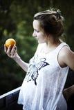 Retrato de una mujer embarazada Foto de archivo
