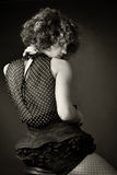 Retrato de una mujer en estudio Imagenes de archivo